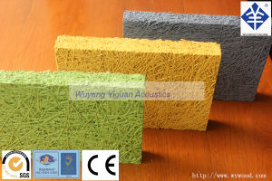 High Quality Painting Wood Fiber Sound Absorbing Wall Panel (CPSQTW25) pictures & photos