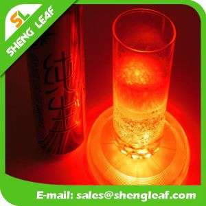 Promotional Hot Sale Custom Acrylic LED Coaster (SLF-LC019)