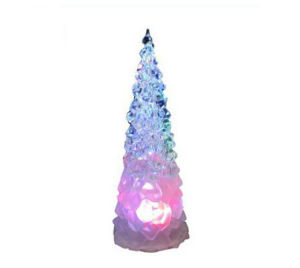 Mini Artificial LED Acrylic Crystal Christmas Tree pictures & photos