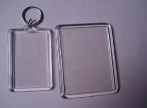 Promotional OEM Transparent Plastic Keychain, pictures & photos