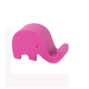 2PCS Free Shipping Elephant Shaped Silicone Cell Phone Holder (Random color) pictures & photos