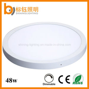 600mm 48W Dimmable 90lm/W AC85-265V LED Panel Lighting Round Ceiling Lamp Light