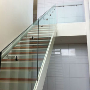Interior Side Mounted Aluminum U Channel Glass Railing Design