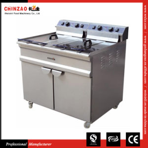 Double Commercial Electric Deep Fat Fryer Dzl-96V pictures & photos