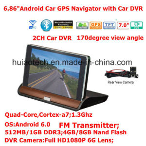Touch Screen GPS Navigation Rearview Backup Camera Mp3 FM Transmitter for Car