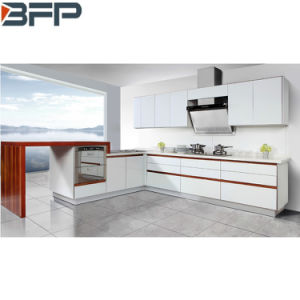 Customized Modern Matt White Paint MDF Board Lacquer Finish Kitchen Cabinets