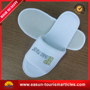 Wholesale Airline White Waffle Men SPA Slippers pictures & photos