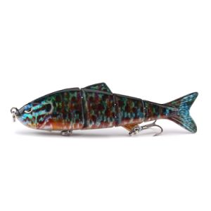 Custom 100mm 11g 4 Scetions Multi Jointed Sinking Swimbait Hard Artificial  Bait Fishing Lure