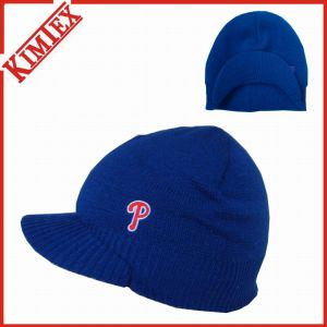Acrylic Winter Knit Embroidery Brimmed Visor Hat pictures & photos