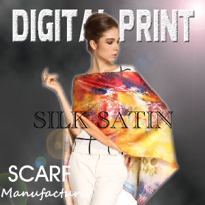 Custom Made Digital Print Scarf (m051) pictures & photos