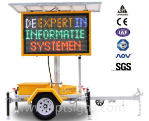 En12966 Certified Portable Solar Powered LED Displays pictures & photos