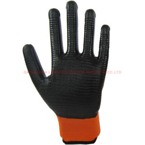 Nitrile Coated Zebra-Stripe Labor Protective Work Gloves (U201) pictures & photos