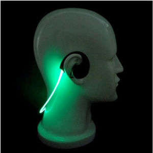 Fashion Fitness Running Stereo Suitable Lightweight Ear Hook Factory Price Smartphone Bluetooth LED Light Earphone pictures & photos