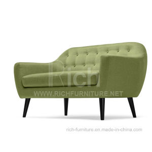 New Design Hotel Bedroom Fabric Sofa (2seater) pictures & photos