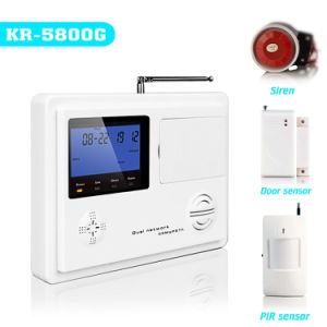 CE Approved GSM+PSTN Dual Network Intrusion Alarm System (KR-5800G)