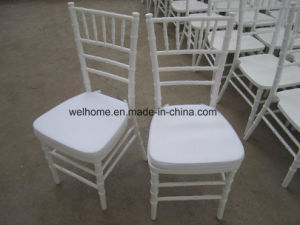 Wholesale White Wooden Chiavari Chair for Wedding pictures & photos