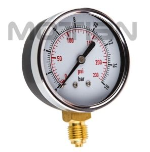 2.5 Inch Steel Chrome Circle Glass Surface Pressure Gauge
