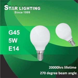 270 Degree Beam Angle 5W G45 LED Global Bulb for Decoration