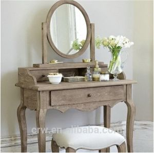 OA-4071 Classical Style Solid Oak Dressing Table pictures & photos