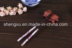 Nice Design Chinese Wood Bamboo 24cm Length Chopsticks Sx-Cc010