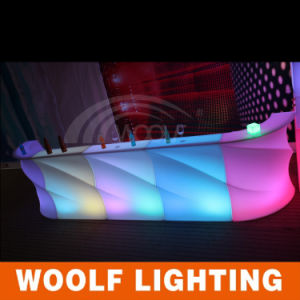 Fashionable Rechargeable RGB PE LED Furniture LED Bar Counter