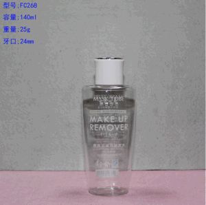 140ml Pet Transperent Bottle with White Srcew on Cap