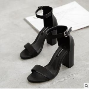 52101459b2ad1b China Wholesale Korean Word Buckle High-Heeled Sandals - China Women ...