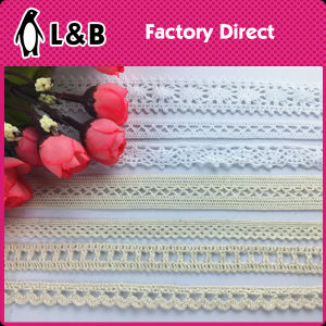 Crothet Embroidered Eyelet Trimmings Cotton Lace pictures & photos
