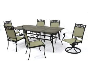 China Garden Outdoor Patio Furniture Dining Set With Swivel Chair