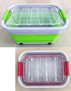 Bon New Design Collapsible Household Plastic Storage Container Box Bin