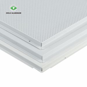China Soundproof Lay In Aluminum Perforated Metal False Ceiling Panel For Metro China Aluminium Ceiling Ceiling Board
