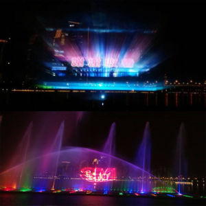 Water Screen with Laser Curtain Music Fountain Project