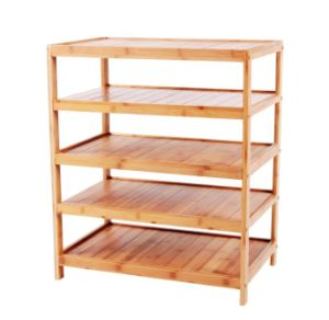 Bamboo 5-Layers Shelves 5-Tier Rack pictures & photos