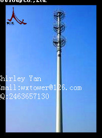 Galvanized Telecom Monopole Tower and Mast pictures & photos