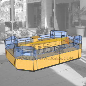 Tempered Glass Aluminium Frame Shop Kiosk Design