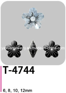 Crystal Glass Flower Jewelry Making Garment Stone Bead (T-4744)