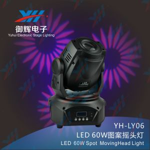 New Products 60W Stage Show LED Moving Head Spot Light Stage Effect Adornment Light