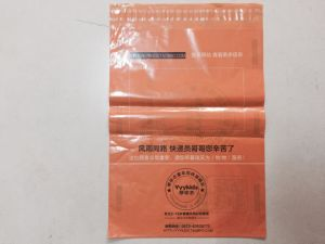 Orange LDPE Disposable Printed Courier Plastic Bags (FLC-8617)
