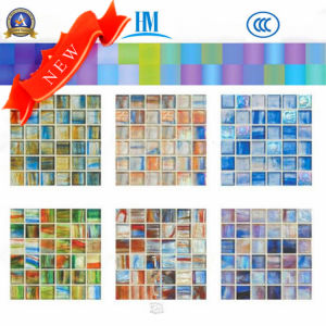 Small Size Thickness 4mm Glass Mosaic/Colored/Swimming Pool/TV Wall/ Glass Mosaic pictures & photos