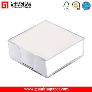 Hot Selling White Paper Memo Cube with Plastic Box pictures & photos