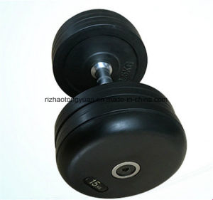 SDH Barbell Set with Rubber Plate and Chromed Bar pictures & photos