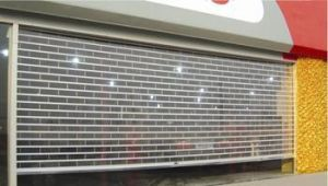 Automatic Polycarbonate Commercial Door with Crystal Slat pictures & photos