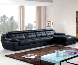 High Quality Modern L Shape Leather Sofa (B. 911) pictures & photos