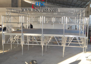 Minimum Staging and Trussing System for Indoor Event