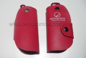 Bank Custom Printing Cow Leather Key Pouch Bag pictures & photos