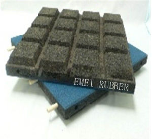 Colorful Pole-Connection Stable Rubber Tile pictures & photos