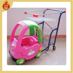 Cheap Supermarket Kids Metal Shopping Cart for Sale pictures & photos