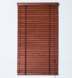 Window Horizontal 35mm Wooden Blinds with Ladder Tape pictures & photos