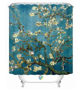 Mildew Resistant Fabric Shower Curtain Waterproof Water Repellent Antibacterial