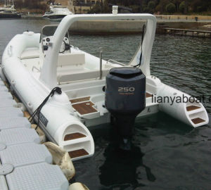 Liya 22ft Fiberglass Rib Boats Inflatable Boats with Electric Boats pictures & photos